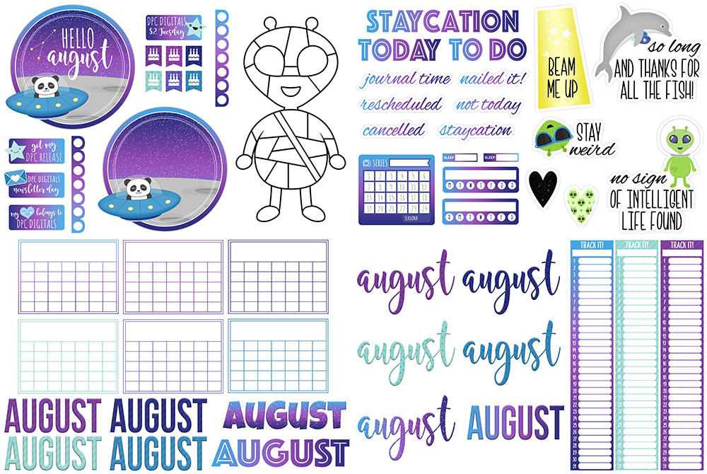 DPC Digitals August Freebie Sticker Set