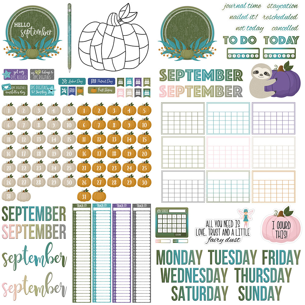 DPC Digitals September Freebie Sticker Set