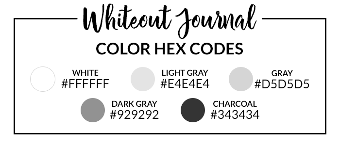 Whiteout Hex Codes