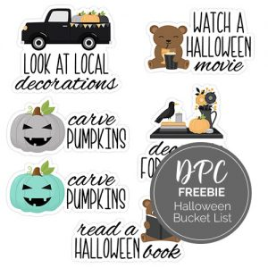Halloween Bucket List Digital Stickers Freebie | @DPCDigitals