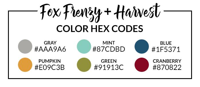 Harvest Hex Codes