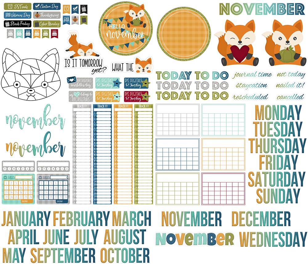 DPC Digitals November Freebie Sticker Set
