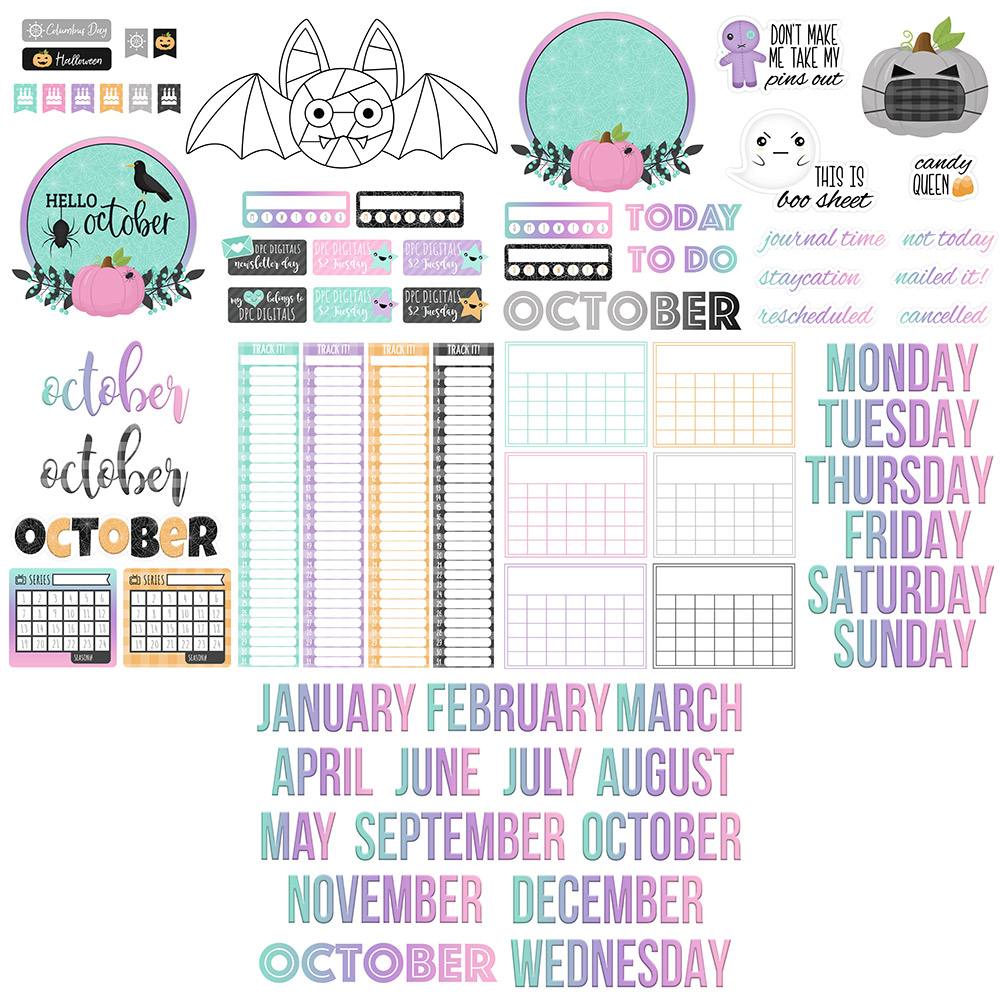 DPC Digitals October Freebie Sticker Set