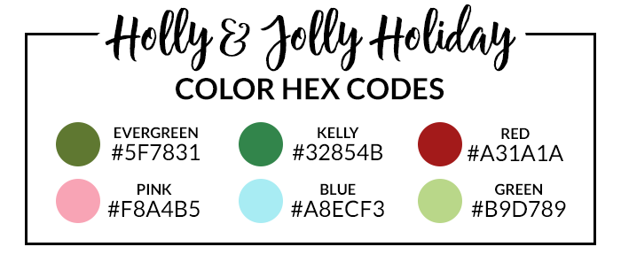 Holly and Jolly Hex Codes