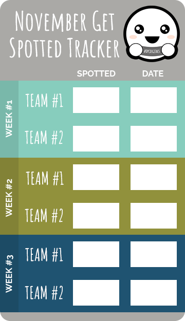 Get Spotted Tracker | November 2020 | @DPCDigitals