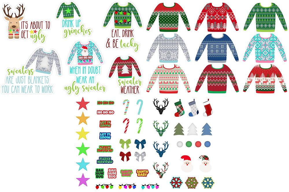 Ugly Sweaters DIgital Stickers Freebie | @DPCDigitals