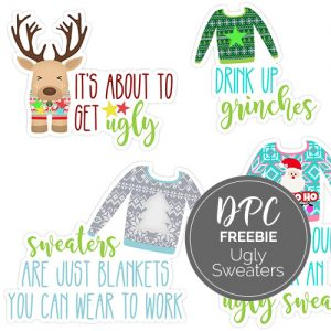 Ugly Sweaters DIgital Stickers Freebie | @DPCDigitals