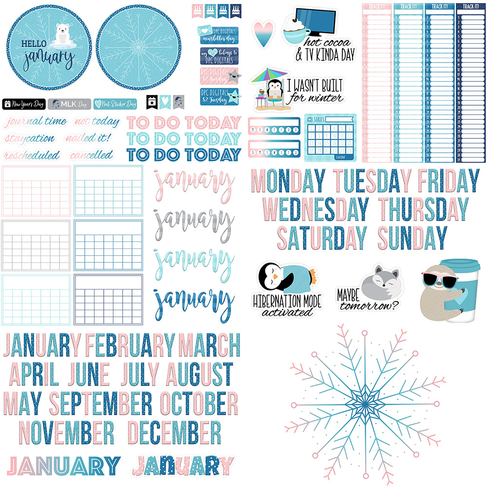 DPC Digitals January Freebie Sticker Set