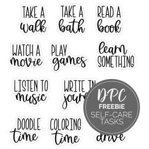 Self-Care Tasks Digital Stickers Freebie | @DPCDigitals