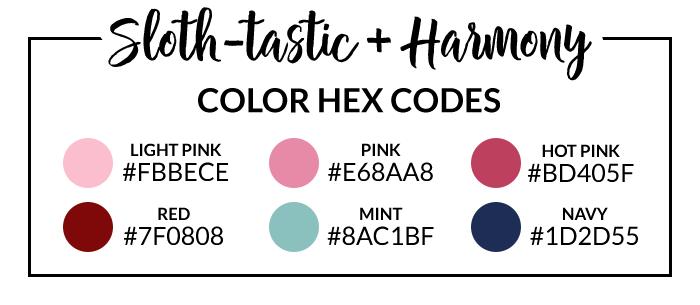 Slothtastic Hex Codes