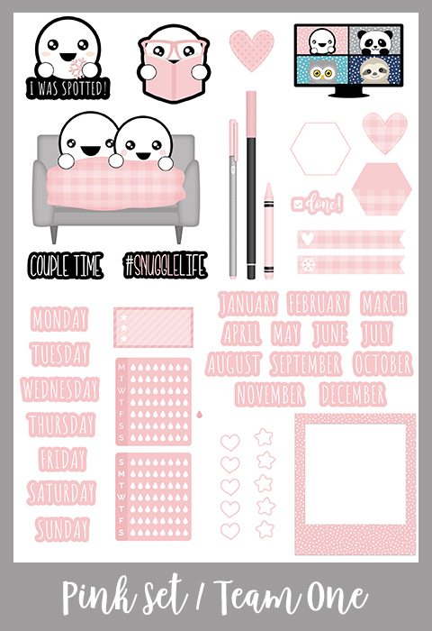 Get Spotted Set   January 2021   Team One   Pink