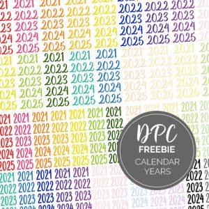Calendar Essentials Updated Years Digital Stickers Freebie | @DPCDigitals
