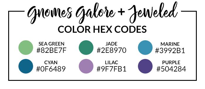 Gnomes Galore Hex Codes