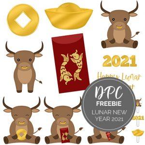 Lunar New Year 2021 Freebie | @DPCDigitals
