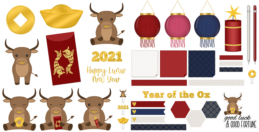 Lunar New Year 2021 Freebie | @DPCDigitals