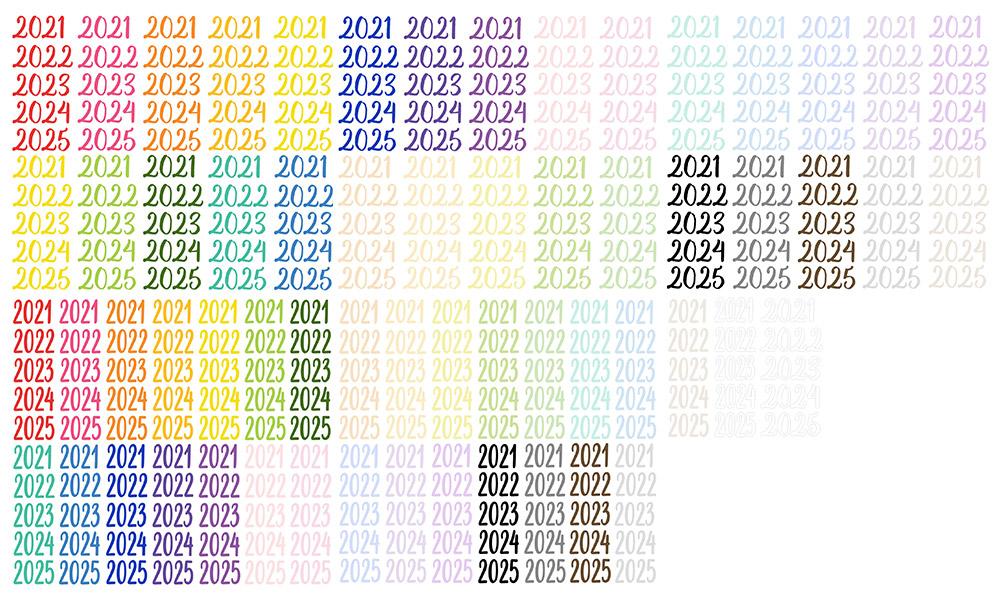 Calendar Essentials Updated Years Digital Stickers Freebie   @DPCDigitals