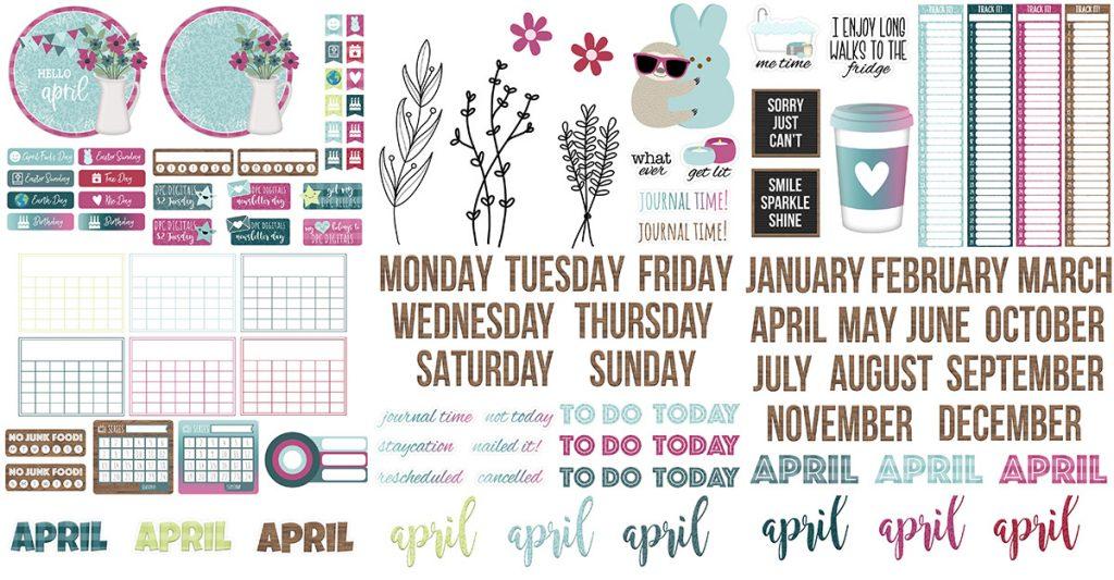 DPC Digitals April Freebie Sticker Set