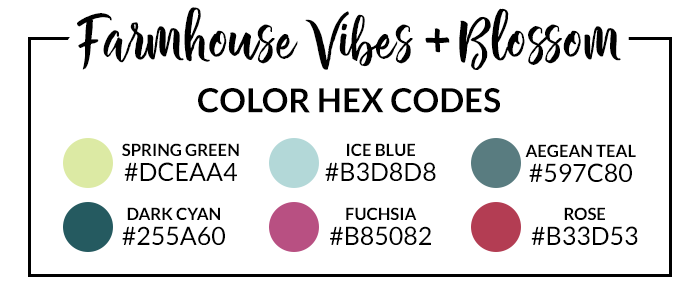 Farmhouse Vibes Hex Codes
