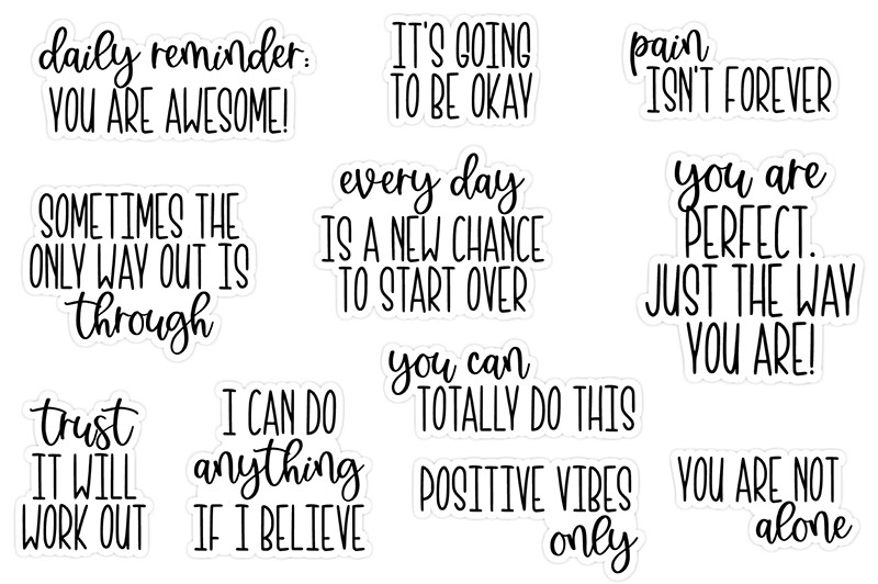 Positive Vibes Freebie | @DPCDigitals