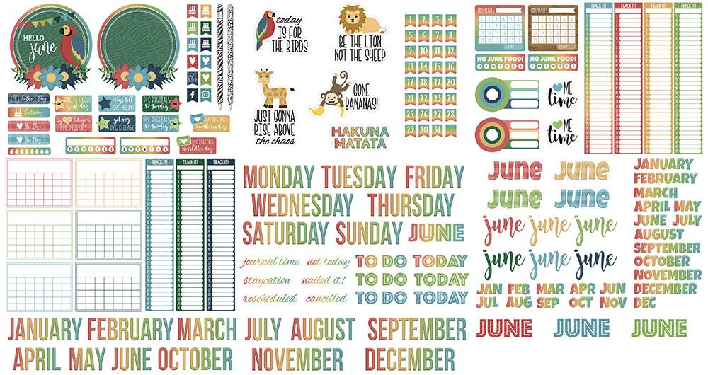 DPC Digitals June Freebie Sticker Set