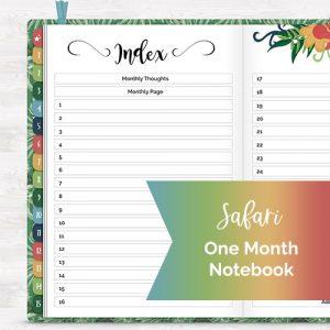 DPC Digitals June Safari One Month Digital Planner Freebie