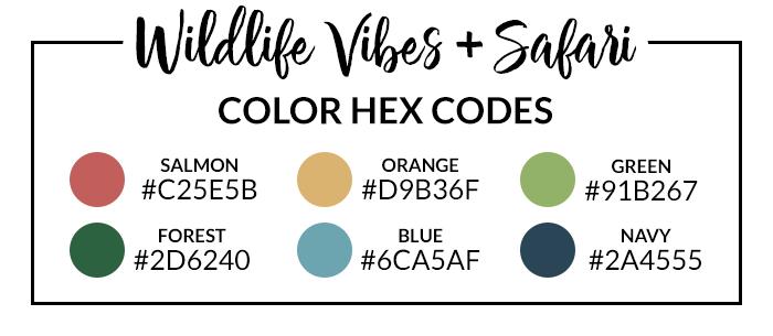 Wildlife Vibes Hex Codes