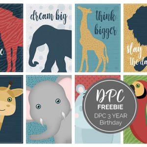 DPC 3 Year Anniversary Freebie | @DPCDigitals