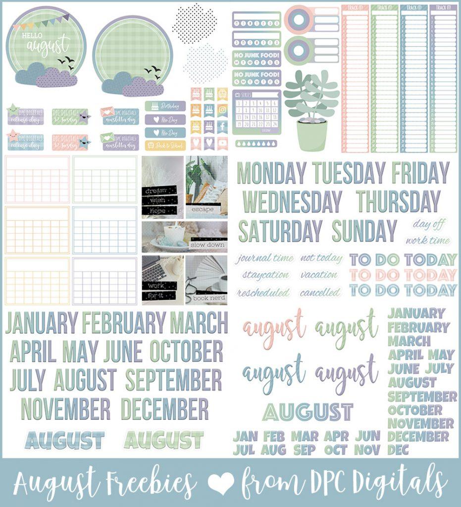 DPC Digitals August Freebie Sticker Set   @DPCDigitals
