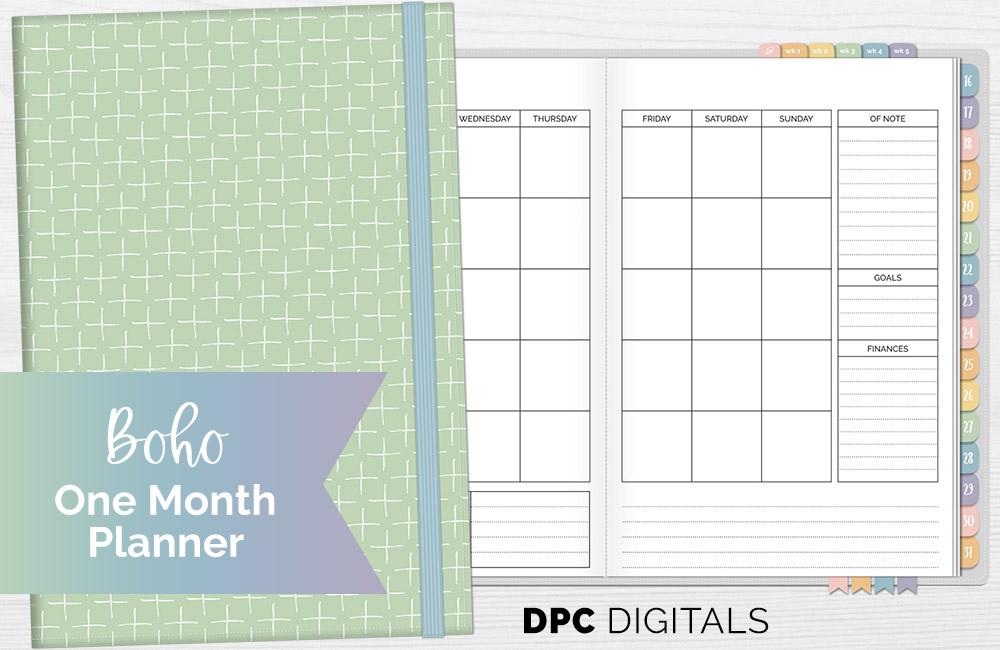 DPC Digitals August Sunbeam One Month Digital Planner Freebie