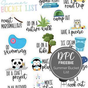DPC Summer Bucket List Freebie   @DPCDigitals