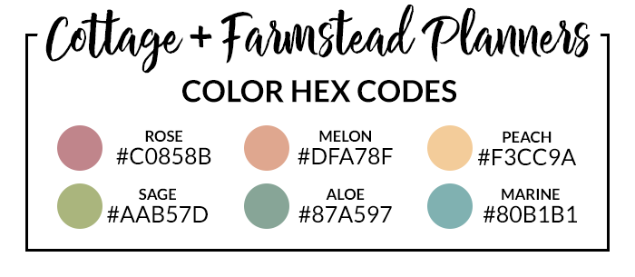 Cottage Vibes Hex Codes