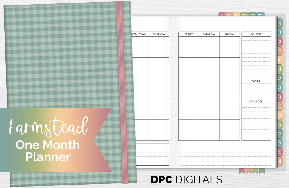 DPC Digitals September Farmstead One Month Digital Planner Freebie