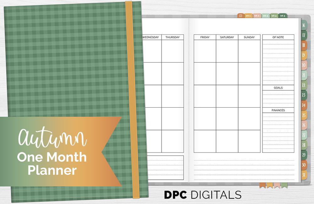 DPC Digitals October Autumn One Month Digital Planner Freebie