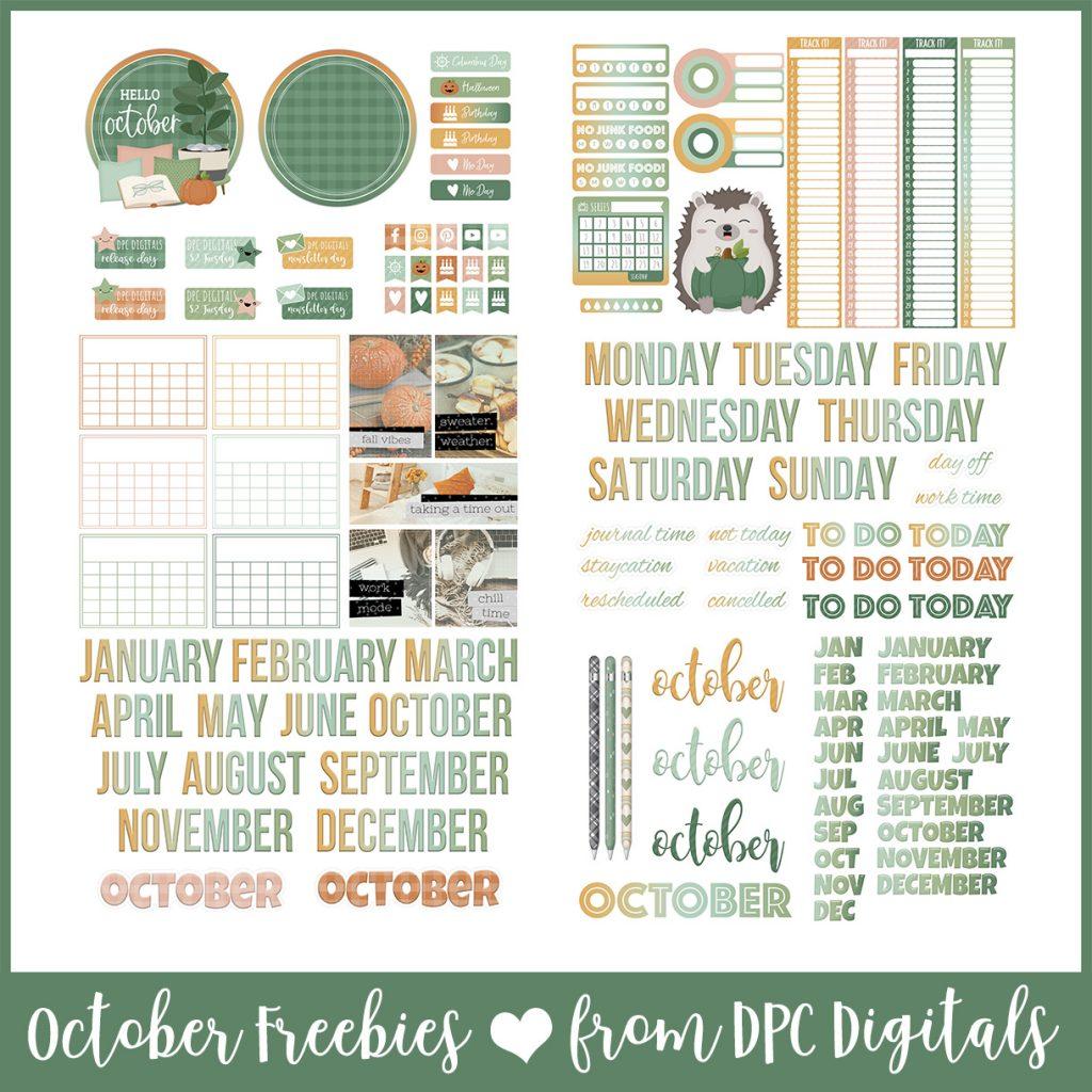 DPC Digitals October Freebie Sticker Set   @DPCDigitals