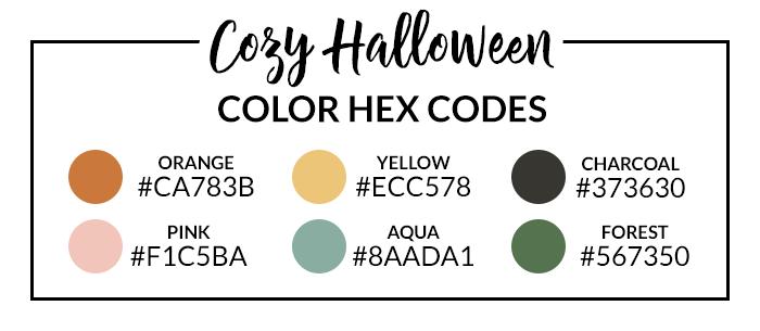 Cozy Halloween Hex Codes